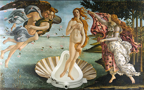 BIRTH OF VENUS WITH DUCHAMP